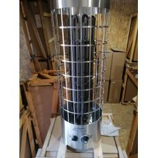 Электрокаменка ЭКМ 6 кВт  «Комфорт LUX Плюс» со встроенным терморегулятором и таймером (нержавеющая сталь)